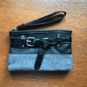 Black and gray wristlet from New York & Co.